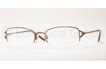 Anne Klein AK 9062 Eyeglasses Styles - Brown Metallic Frame w/Non-Rx 51 mm Diameter Lenses, 419S-5118