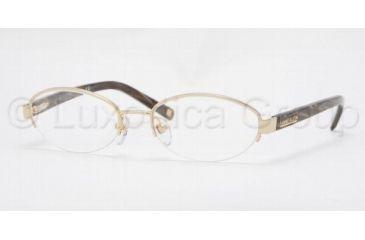 Anne Klein AK 9106 Eyeglasses Styles Light Gold Frame w/Non Rx 49 mm Diameter Lenses, 533 4917