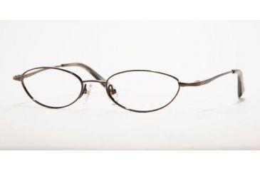 Anne Klein AK7515-808-4817 Eyeglasses with No-Line Progressive Rx Prescription Lenses 48 mm Lense Diameter / Shiny Brown Frame
