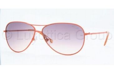 Anne Klein AK4127 Progressive Prescription Sunglasses AK4127-361-73-6011 - Lens Diameter: 60 mm, Frame Color: Tangerine