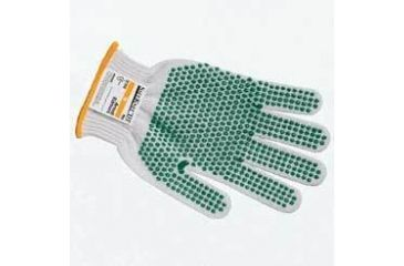 Ansell Healthcare SafeKnit Cut-Resistant Gloves, Ansell 240074 Style 72-015 Medium-Duty, Two-Strand, Ultima With Blue Pvc Gripping Dots