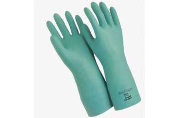 Ansell Healthcare Sol-Vex Nitrile Gloves, Ansell 117272 33 Cm (13'') Length, 15 Mil Thickness, Flock-Lined