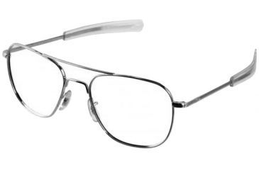 AO Flight Gear General Series Sunglasses Frame, No Lens, Silver, Bayonet, 58mm Lens S-BNT-58
