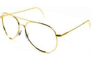 Ao Flight Gear General Series Sunglasses Frame No Lens Gold Wire Spatula 52mm Lens G Ws 52