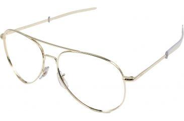 AO Flight Gear General Series Sunglasses Frame, No Lens, Gold, Bayonet, 58mm Lens G-BNT-58