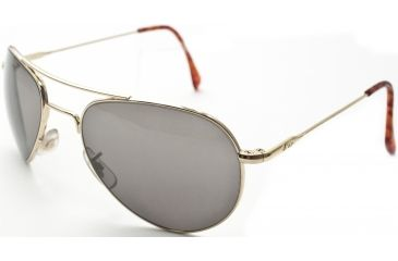 AO II 8-Base Sunglasses, Gold, Wire Spatula, Gray Poly Lens, 52mm, Small G-CCP-WS-52