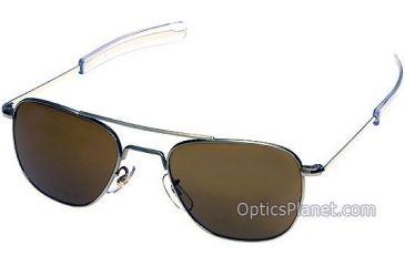 AO Original Pilot 52mm Sunglasses with Champagne Frame