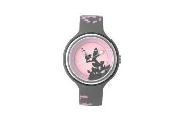 Appetime Kokage Mini Ladies Watch, Daybreak, Gray Band, Pink Face SVJ211106
