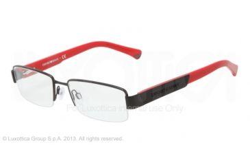 Armani EA1001 Eyeglass Frames 3001-52 - Matte Black Frame
