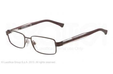 Armani EA1002 Eyeglass Frames 3020-51 - Matte Brown Frame