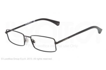 Armani EA1003 Eyeglass Frames 3001-52 - Matte Black Frame
