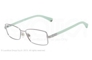 Armani EA1004 Single Vision Prescription Eyeglasses 3010-52 - Gunmetal Frame