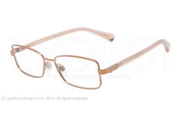Armani EA1004 Single Vision Prescription Eyeglasses 3011-52 - Bronze Frame