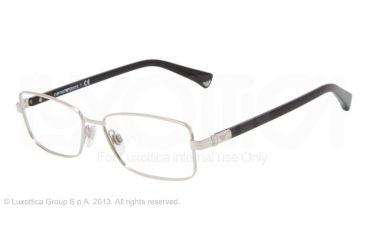 Armani EA1004 Single Vision Prescription Eyeglasses 3015-52 - Silver Frame