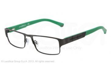 Armani EA1005 Single Vision Prescription Eyeglasses 3014-52 - Black Frame