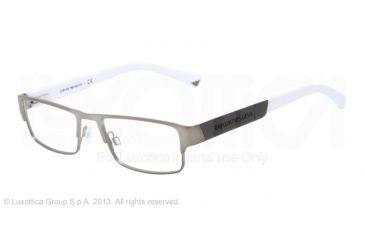 Armani EA1005 Single Vision Prescription Eyeglasses 3044-54 - Matte Gunmetal Frame