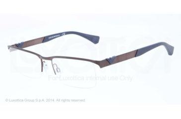 Armani EA1014 Bifocal Prescription Eyeglasses 3049-53 - Matte Brown Frame