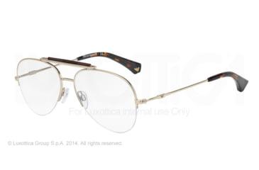 Armani EA1020 Bifocal Prescription Eyeglasses 3002-55 - Matte Pale Gold Frame
