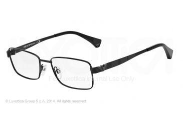 Armani EA1021 Progressive Prescription Eyeglasses 3001-53 - Matte Black Frame