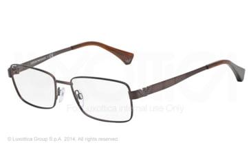 Armani EA1021 Progressive Prescription Eyeglasses 3049-53 - Matte Brown Frame