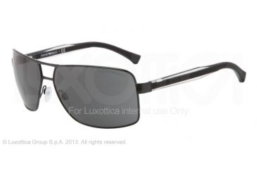 Armani EA2001 EA2001 Single Vision Prescription Sunglasses EA2001-301487-64 - Lens Diameter 64 mm, Frame Color Black