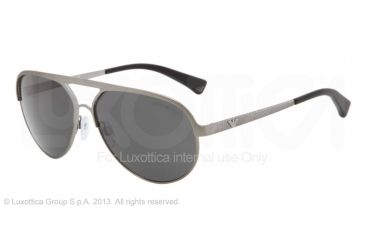 Armani EA2004 Single Vision Prescription Sunglasses EA2004-302487-59 - Lens Diameter 59 mm, Frame Color Gunmetal Demi Shiny