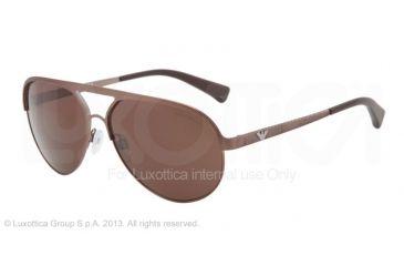 Armani EA2004 Single Vision Prescription Sunglasses EA2004-302573-59 - Lens Diameter 59 mm, Frame Color Brown Demi Shiny