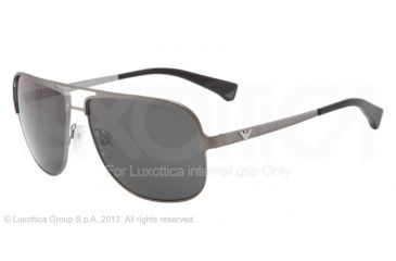 Armani EA2007 Sunglasses 302487-59 - Gunmetal Demi Shiny Frame, Gray Lenses