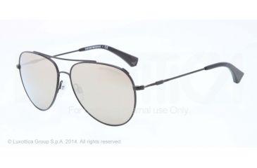 Armani EA2010 Single Vision Prescription Sunglasses EA2010-30015A-57 - Lens Diameter 57 mm, Frame Color Matte Black