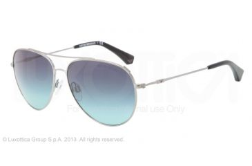 Armani EA2010 Single Vision Prescription Sunglasses EA2010-30104S-57 - Lens Diameter 57 mm, Frame Color Gunmetal