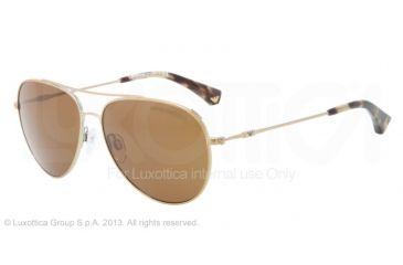 Armani EA2010 Single Vision Prescription Sunglasses EA2010-301373-57 - Lens Diameter 57 mm, Frame Color Pale Gold