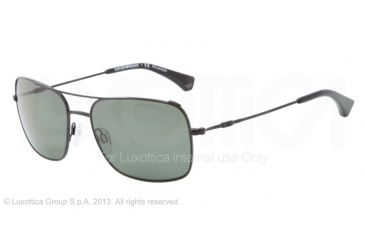 Armani EA2011 Single Vision Prescription Sunglasses EA2011-30149A-56 - Lens Diameter 56 mm, Frame Color Black