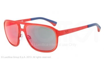 Armani EA2012 Bifocal Prescription Sunglasses EA2012-30436Q-58 - Lens Diameter 58 mm, Frame Color Matte Red