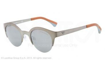 Armani EA2013 Sunglasses 30036G-46 - Matte Gunmetal Frame, Gray Mirror Silver Lenses