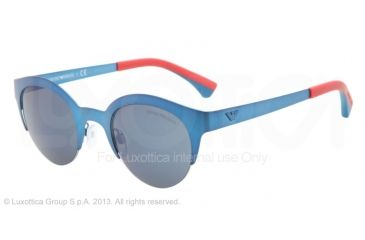 Armani EA2013 Sunglasses 304296-46 - Matte Electric Blue Frame, Dark Gray Lenses