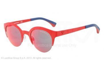 Armani EA2013 Sunglasses 30436Q-46 - Matte Red Frame, Red Multilayer Lenses