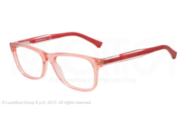 Armani EA3001 Single Vision Prescription Eyeglasses 5070-52 - Peach Transp Frame