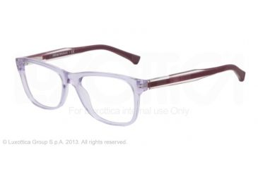 Armani EA3001 Single Vision Prescription Eyeglasses 5071-52 - Violet Trasp Frame
