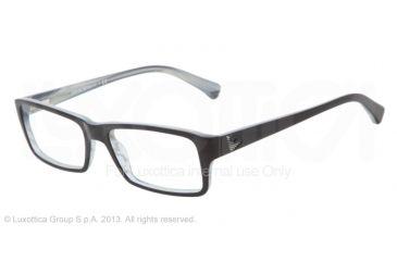 Armani EA3003 Eyeglass Frames 5056-52 - Blue/variegated Azure Frame
