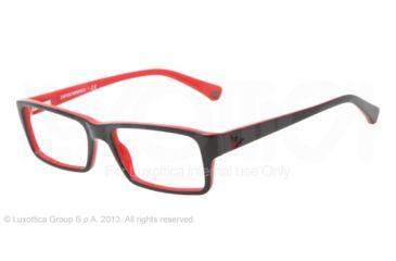 Armani EA3003 Eyeglass Frames 5061-54 - Top Black On Red Frame
