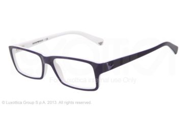 Armani EA3003 Eyeglass Frames 5154-52 - Top Blue On White Frame