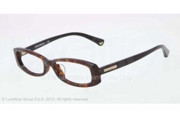 Armani EA3007F Single Vision Prescription Eyeglasses 5026-53 - Dark Havana Frame