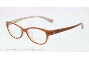 Armani EA3008F Bifocal Prescription Eyeglasses 5054-53 - Brown/variegated Cream Frame