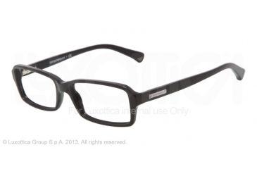 Armani EA3010 Single Vision Prescription Eyeglasses 5017-52 - Black Frame