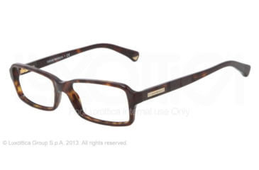 Armani EA3010 Single Vision Prescription Eyeglasses 5026-52 - Dark Havana Frame