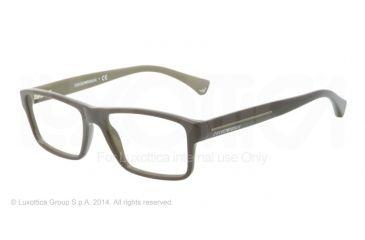 Armani EA3013 Single Vision Prescription Eyeglasses 5105-52 - Top Military/camoufflage Frame
