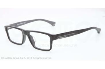 Armani EA3013F Bifocal Prescription Eyeglasses 5102-54 - Top Black On Gray Frame