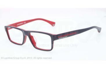 Armani EA3013F Bifocal Prescription Eyeglasses 5103-54 - Top Blue On Red Frame