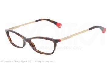 Armani EA3014 Single Vision Prescription Eyeglasses 5026-54 - Havana/Red Frame