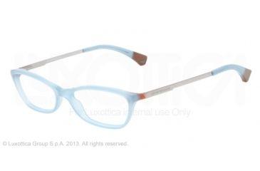 Armani EA3014 Single Vision Prescription Eyeglasses 5127-54 - Opal Green/brown Frame